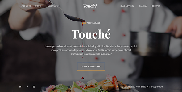 Touche - Cafe & Restaurant WordPress Theme            TFx Noopoofig Miles