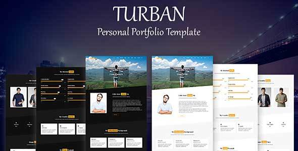 Turban - Personal Portfolio Template            TFx Hervey Katsuo