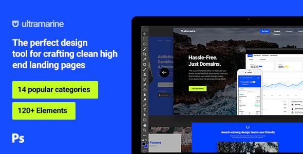 Ultramarine UI Kit - PSD Templates  TFx PSDTemplates Cornelius Gavin