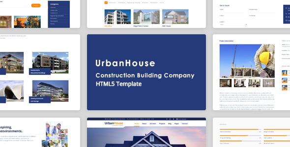 UrbanHouse - Construction Renovation HTML5 Template + SASS            TFx Huey Ferdy