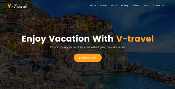 V-Travel - Travel agency Responsive Website Template            TFx Vere Kennard