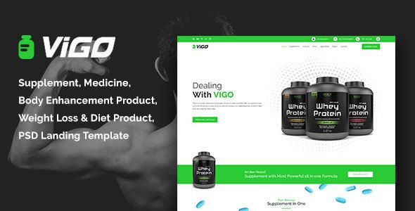VIGO-Health Supplement Landing Page PSD Template            TFx Randy Lovell