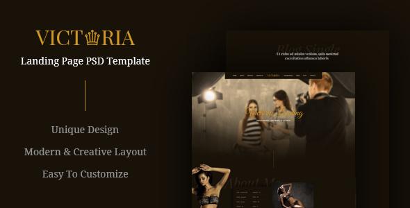 Victoria - Creative Landing Page PSD Template            TFx Blair Putu