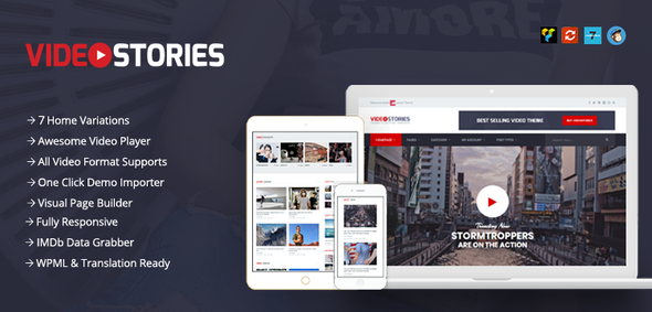 VideoStories – Responsive Video WordPress Theme For Marketers            TFx Osmond Percival
