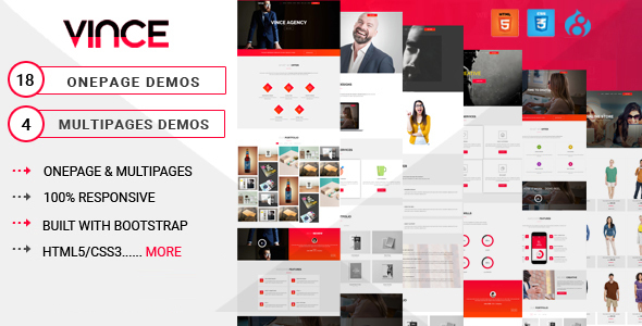 Vince Onepage & Multipages Business Drupal 8 Theme7            TFx Kody Algar