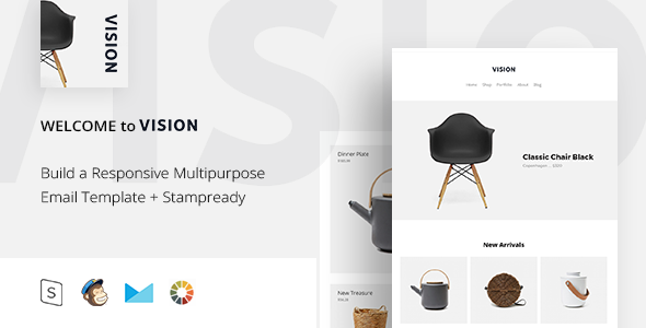 Vision - Responsive Email + StampReady Builder - Email Templates Marketing TFx Lucan Casimir