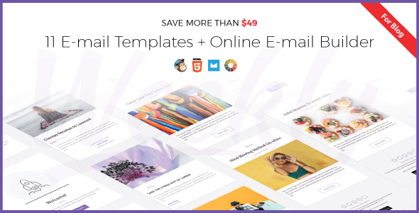 Weekly | Responsive Email Newsletter Template with Online Email Builder - Newsletters Email Templates TFx Erick Davy