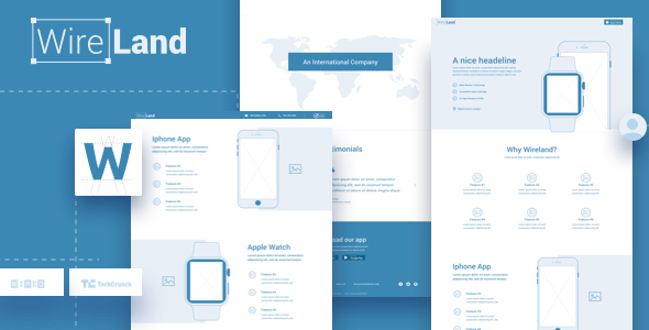 Wireland - Wireframe Library for Web Design Projects - Sketch Template - Sketch Templates  TFx Bennie Farran