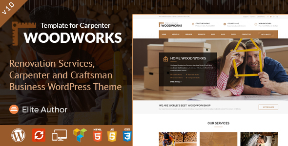 Wood Works - Craftsman Business WordPress Theme            TFx Vedast Wilmer