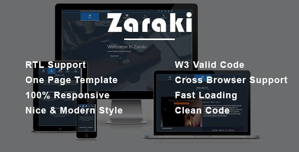 Zaraki - Personal Portfolio HTML Template - Portfolio Creative TFx Vinny Sonny