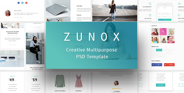 Zunox - Creative Multipurpose PSD Template            TFx Kaeden William