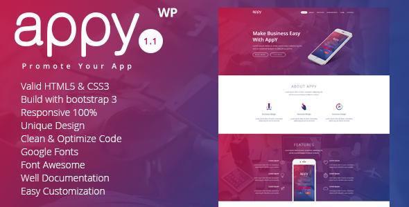appy | App Landing WordPress Theme            TFx Cayden Gerrard
