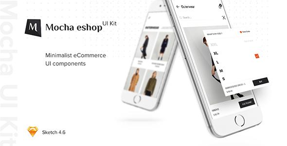 eShop Mobile UI Kit - Sketch Templates  TFx Ovid Den