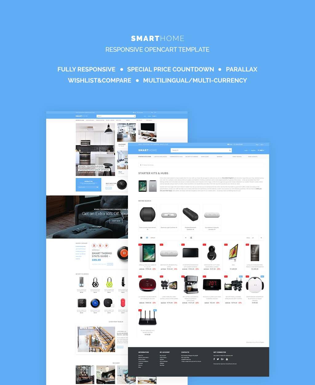 Electronics Responsive OpenCart Template TMT Kouta Lowell