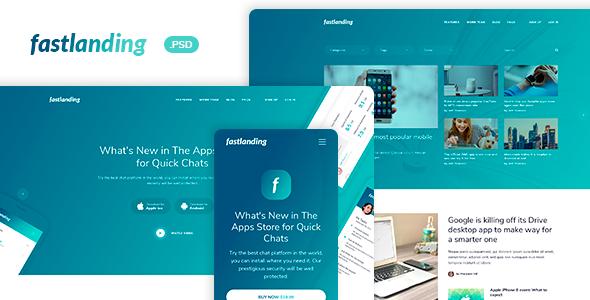 fastlanding - Creative Landing Page - PSD Template - PSD Templates  TFx Dannie Noah