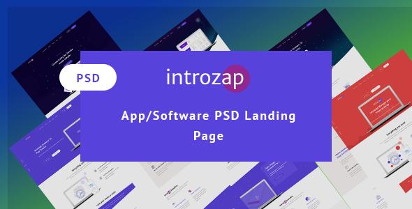 introzap - Software & Apps  PSD Landing Page            TFx Barney Slamet