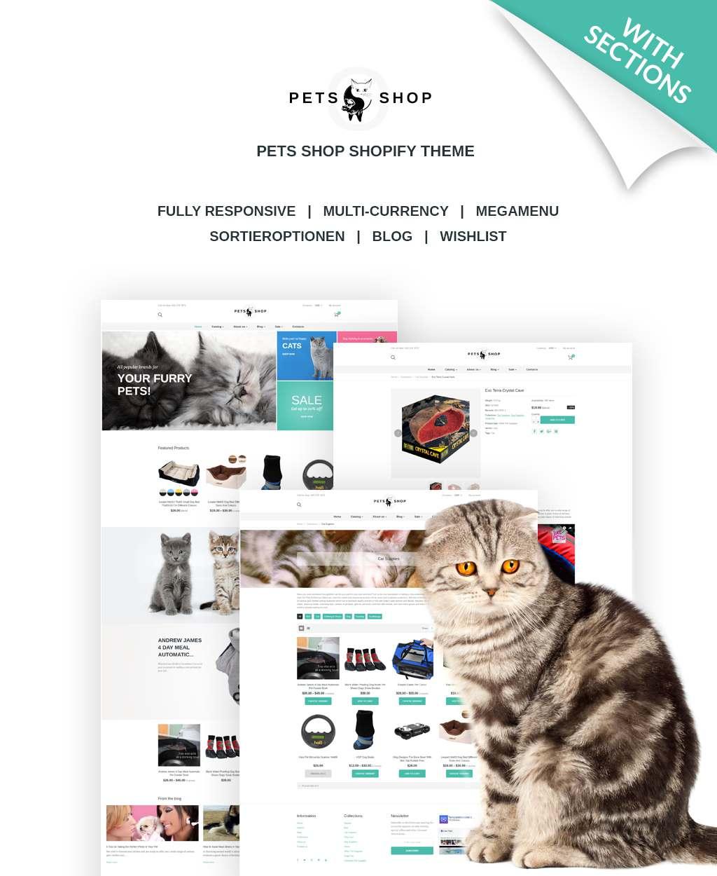Pet Shop Responsive Shopify Theme TMT Allen Melville