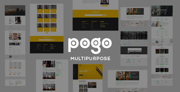 pogo - Multipurpose Responsive Template - Corporate Site Templates TFx Radcliff Niles