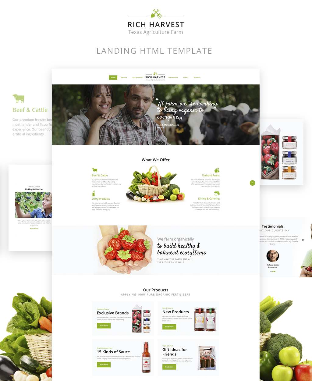 Rich Harvest - Agriculture And Farming Landing Page Template TMT Hagop Robbie