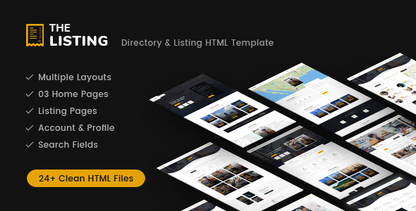 theListing - Listing Directory HTML Template with Bootstrap 4            TFx Brigham Temple