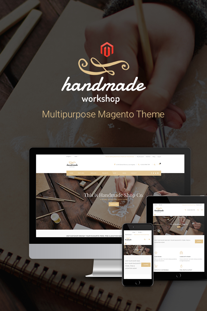 Handmade Responsive 2 & 1 Magento Theme TMT Glanville Lionel
