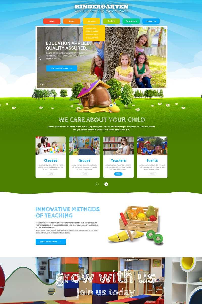 Kids Land Bootstrap Website Template TMT Krikor Troy