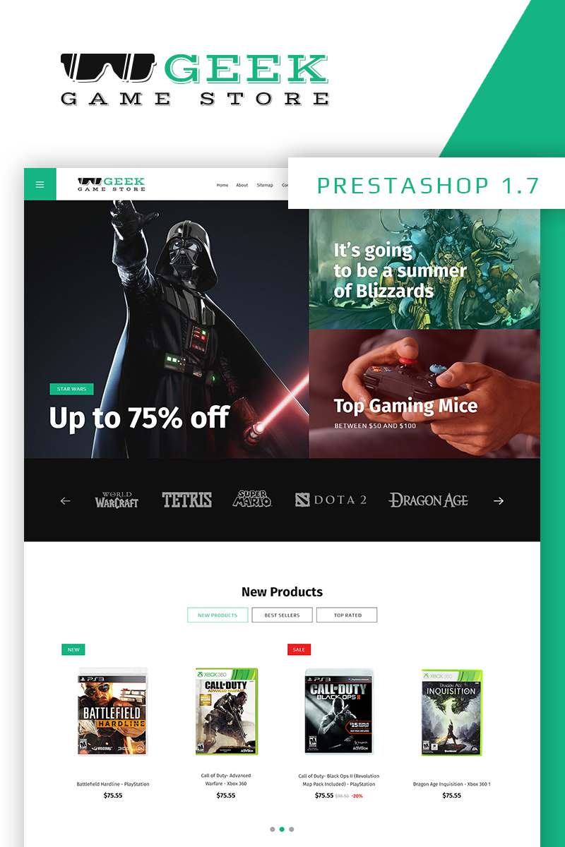 Geek - Game Store PrestaShop Theme TMT Nigel Jewel