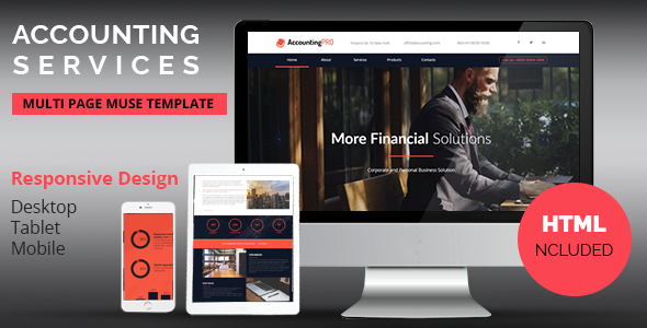 Accounting Services Responsive Muse Template            TFx Jonah Rayner
