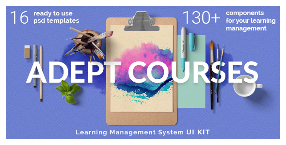 Adept Courses - Learning Management System PSD Kit            TFx Cowessess Tanner
