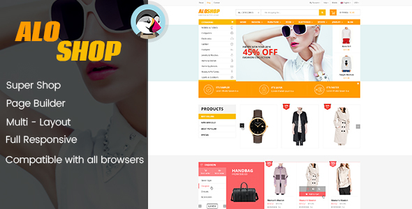 AloShop – Mega Store & Flexible Page Builder Prestashop 1.7.x Theme (10 home page)            TFx Kouki Crispin