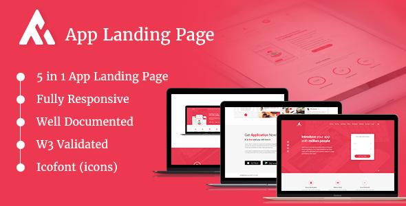 AppRaxx - 5 in 1 App Landing Page            TFx Yori Finnegan