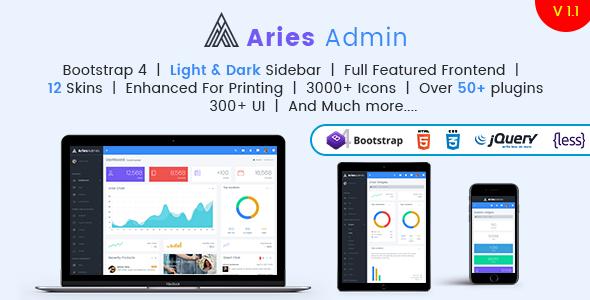 Aries Admin - Responsive Bootstrap 4 Admin, Dashboard & WebApp Template            TFx Livy Neil