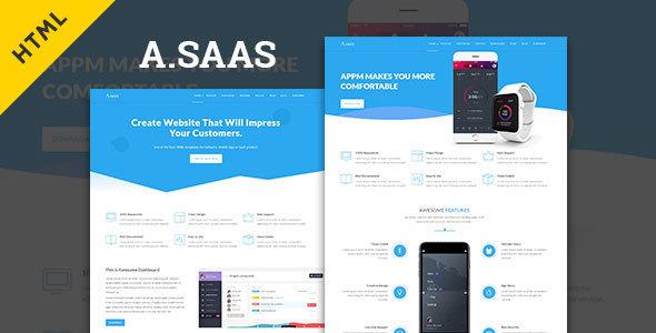 Asaas- Saas & App Landing Html5 Template            TFx Ryouta Zachariah
