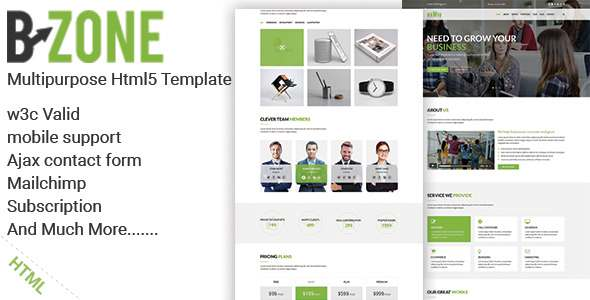 BZONE - Multipurpose One Page HTML5 Template            TFx Harvey Elias