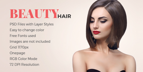 Beauty Hair            TFx PSDTemplates Manley Kyle