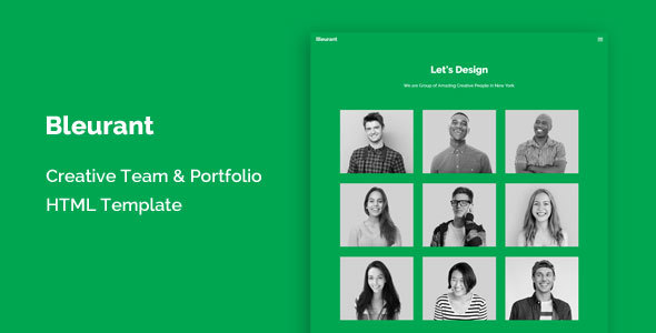 Bleurant – Creative Team and Portfolio HTML Template            TFx Mike Chauncey