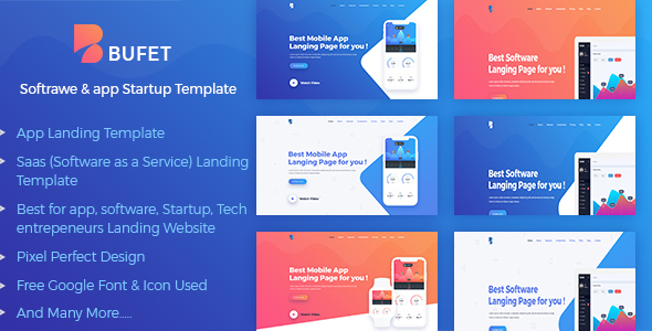 Bufet - App, Saas and Software Landing Page            TFx Horace Den