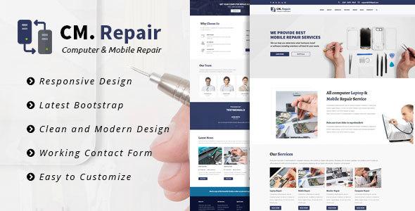 CM Repair - Computer & Mobile Repair Template            TFx Ryker Kiaran