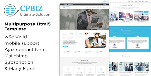 CPBIZ – Multipurpose HTML5 Template            TFx Russell Talon