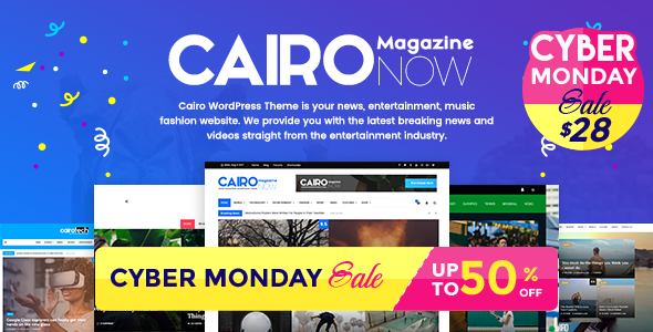 Cairo - Glossy News, Magazine, Blog WordPress Theme            TFx Callahan Vernon