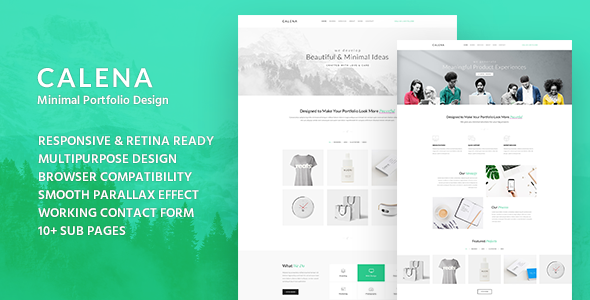 Calena - Minimal Digital Agency HTML Template            TFx Malcolm Wally