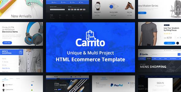 Carrito - Bootstrap 4 Ecommerce Template            TFx Suharto Jerald