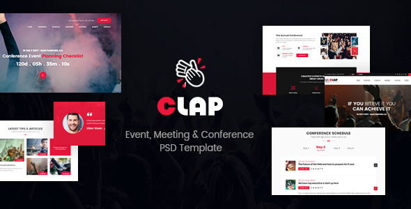 Clap - Event, Meeting & Conference PSD Template            TFx Christmas Meriwether