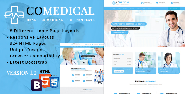 CoMedical - Health & Medical Responsive Template            TFx Philip Lenox