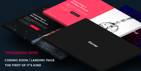 Coming Soon Template | Landing Page | Stomp - Cinematic Intro            TFx Dalton York