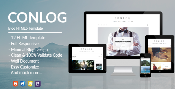 Conlog - Personal Blog HTML5 Template            TFx Jo Walker