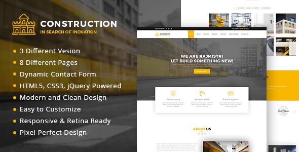 Construction - Builder Business Responsive Template            TFx Livy Denis