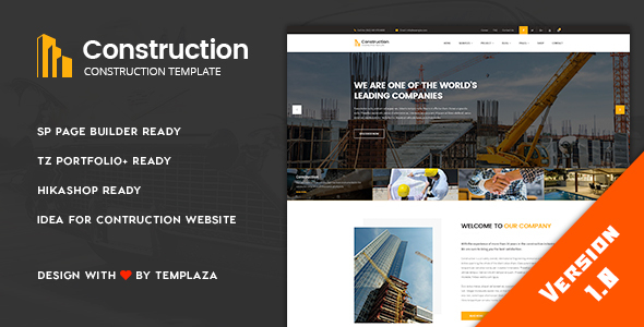Construction - Building & Architect Joomla Template            TFx Goodwin Bryce