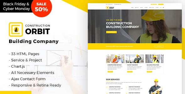 Construction Orbit - Business Services Template for Architecture & Construction Building Company            TFx Ritchie Jett