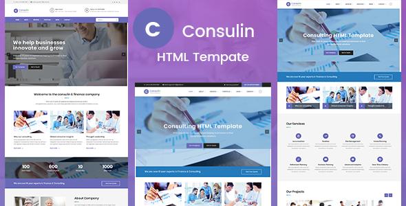 Consulin - Consultant Finance HTML Template            TFx Abraham Yuuta